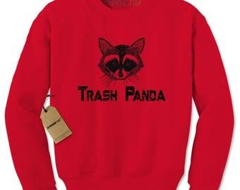 Trash Panda Raccoon Adult Crewneck Sweatshirt