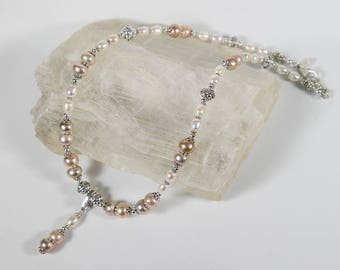 Fresh Water Pearl and Sterling Silver Necklace