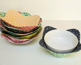 Microwave Bowl Cozy - Microwave Bowl Holder - Reversible Bowl Cozy