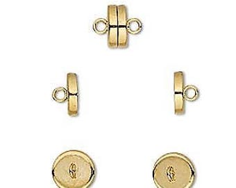 Gold Clasp, Very Strong Magnetic Clasp, 8x4mm, 2 each, D1046