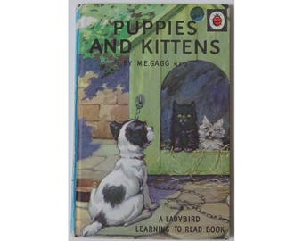 Ladybird Book: Puppies and Kittens. 1970s  copy, good condition.
