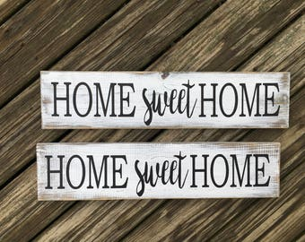 Home sweet Home sign, painted farmhouse country home decor