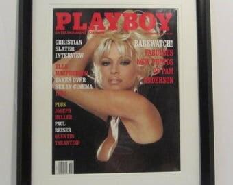Vintage Playboy Magazine Cover Matted Framed : November 1994 - Pamala Anderson