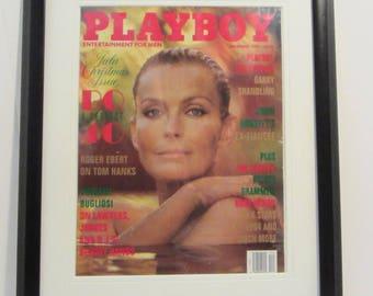 Vintage Playboy Magazine Cover Matted Framed : December 1994 - Bo Derek