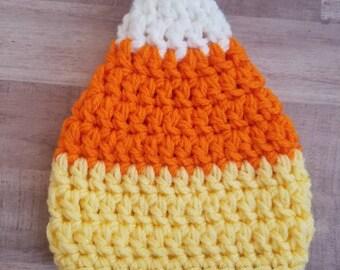 Candy Corn Baby Costume Hat Crochet Newborn/Baby/Toddler/Adult/Halloween/Pumpkin Beanie/Newborn Photo Prop
