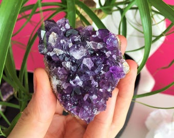 Amethyst Crystal w/ Reiki Perfect Birthday Gift for Her