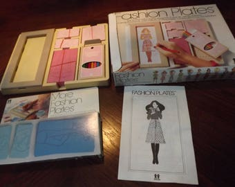 1978 Tomy Fashion Plates Complete w. EXTRA Set of Fashion Plates Complete