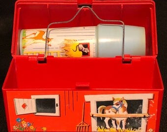Vintage Fisher Price Barn Lunch Box