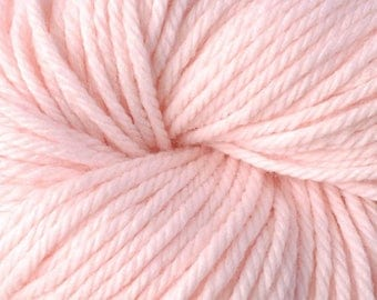 Vintage CHUNKY 6110 +Free Patterns 7.50 +1.50ea to Ship - FONDANT 6110 - Light Pink Washable Wool Acrylic Nylon Yarn by Berroco. MSRP 8.50