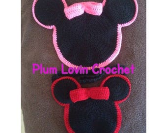 Crochet Minnie Mouse purse
