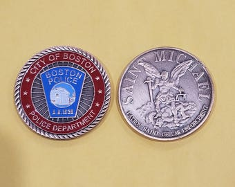 Boston Police Department Challenge Coin