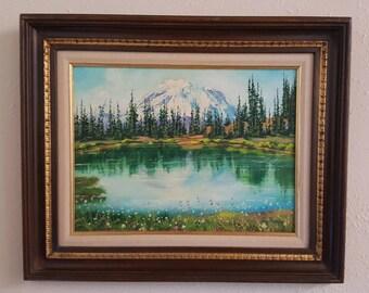 Mt Rainier Original Oil on Board