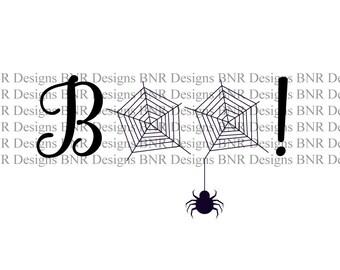 Boo SVG, Halloween SVG, Spider SVG, Dxf File, Cameo File, Cricut File, Silhouette File