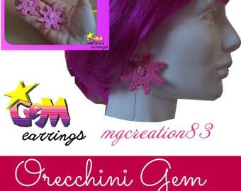 7-pointed star shape crochet earrings-handmade