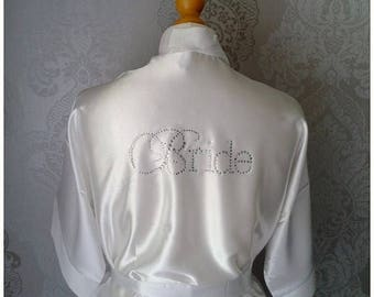 10% DISCOUNT Personalised Satin Bridesmaid Robe, Dressing Gown, Bride Robe, Bridal Party, Wedding, Gift, Various Colours and Sizes