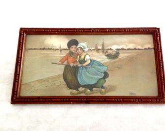antique french print by Florence Hardy