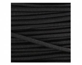 2, 5mm black elastic round cord