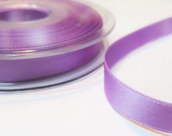 Double faced luxury 10 mm, light purple satin ribbon