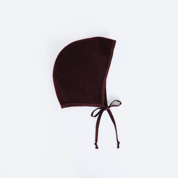 Wool brimless bonnets