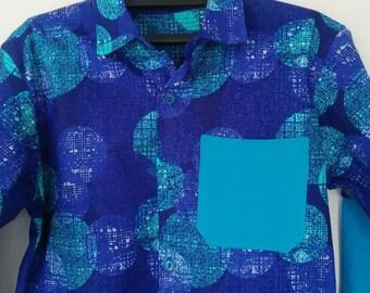 African Print Boy's Shirt