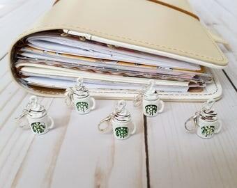 Starbucks Mug Charm / Travelers Notebook Charm / Erin Condren Charm / TN Charm / Planner Charm / Midori Charm / Zipper Charm / Purse Charm