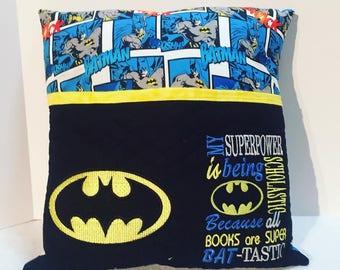 Bat-tastic Reading Pillow