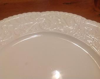 Ivory embossed plate