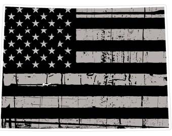 Colorado State (N8) Distressed Flag Vinyl Decal Sticker Car/Truck Laptop/Netbook Window