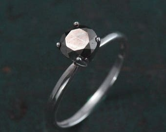 Pyrite Ring~Alternative Engagement Ring~Fools Gold and Silver~Alternative Diamond Ring~Promise Ring~Unique Engagement~Pyrite Engagement Ring