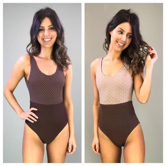 brownie one piece reversible tank maillot size large