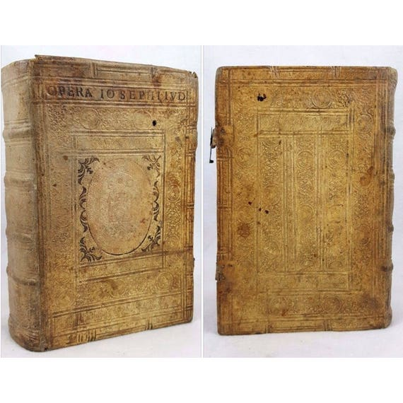 1617 Works of Josephus in alum tawed pigskin binding, elaborately decorated