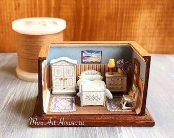 "1:144 Scale Roombox  ""Bedroom"""