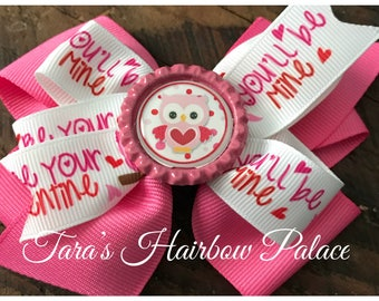 Owl Be Your Valentine Hair Bow /Clip