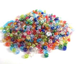 10 grams of seed beads multicolor 2mm (about 800 beads)