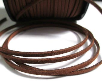 1 m brown suede 3 mm suede cord
