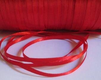20 m red 3mm satin ribbon