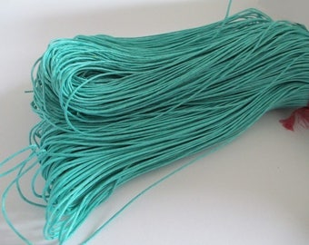 5 Metters blue Emerald waxed cotton thread 1 mm
