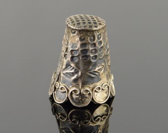 925k Ornate Thimble Sterling Silver