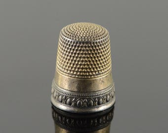 Simon Brothers #9 Thimble Sterling Silver