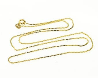 14k 1.0mm Rolling Curb Link Chain Necklace Gold 19.25""