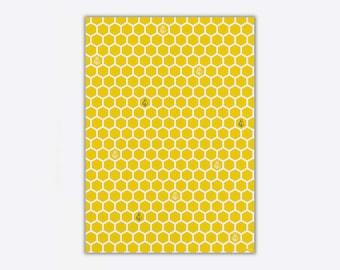 Wrapping Paper 'Honeycomb' // 3pcs. x 50x70cm