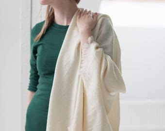 white merino shawl white wool scarf creamy white wrap scarf natural merino wool shawl