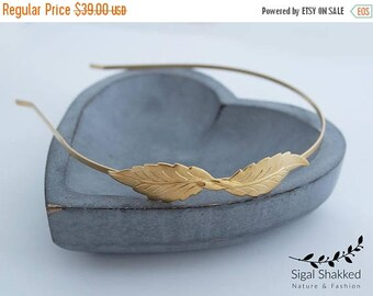 Leaf Headband, Princess Headband, Feather Headband, Fairy Headpiece, Greek Goddess, Bridal Headband, Bridal Headpiece, Gift For Her