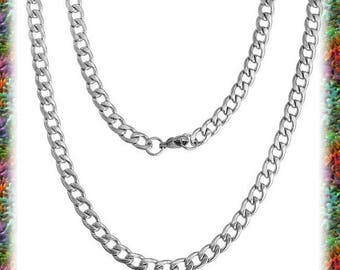 1 large horse steel mesh chain necklace 55cm stainless