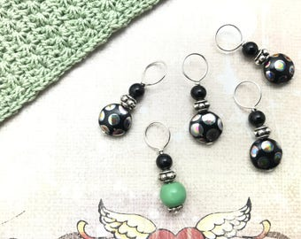 Polka Dot Party Stitch Marker Set - Gift for Knitters - Knitting Notions