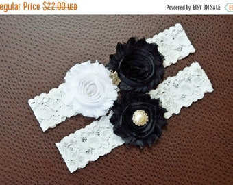 ON SALE Police Wedding Garter Set, Police Garter, Police Bridal Garter Set, Ivory Lace Wedding Garter, Police Officer Garter, Police Departm