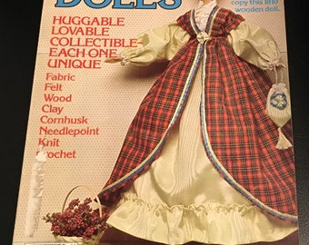 McCall's Super Book Of Dolls Fabric Felt Wood Clay Cornhusk Needlepoint Knit Crochet Detailed Actual Size Pattern