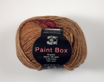 Paint Box Yarn (Knit One Crochet Too) - Red/Orange/Brown