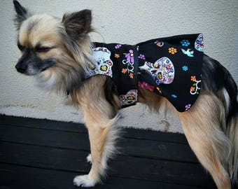 Dog Dress, Dress, Pet Accessories, Skulls, Girl Dog Dress