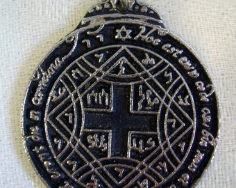 "SEAL Of KING SOLOMON Magical Pentacle Pendant Amulet Talisman Protection Medallion Charm 1.25""  *Free Shipping*"
